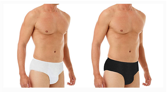 100% Cotton Men Dispossable Underwear for men