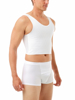 Three powerful layers of nylon and spandex throughout the front, and a single back layer, provide maximum comfortable chest binding