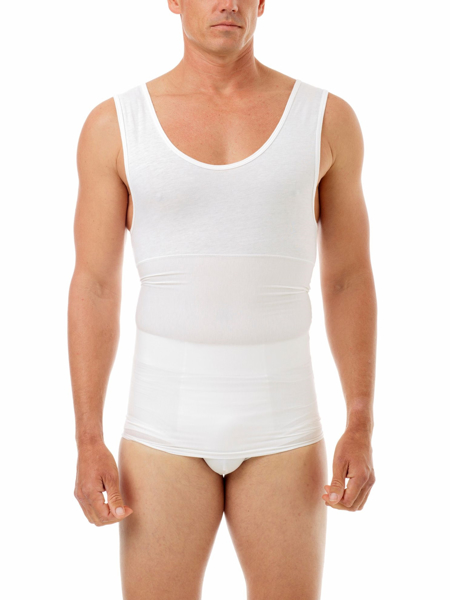 Manshape Cotton Spandex Support Tank Provides tummy & fatigue-relieving back support
