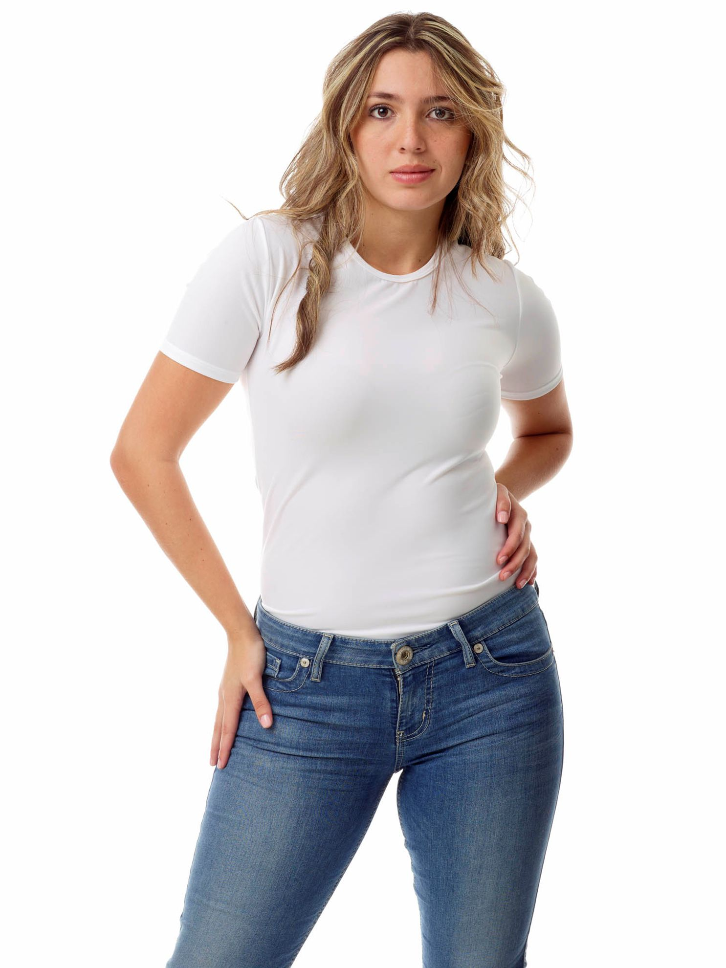 Picture of Womens Microfiber Compression Crew Neck T-Shirt