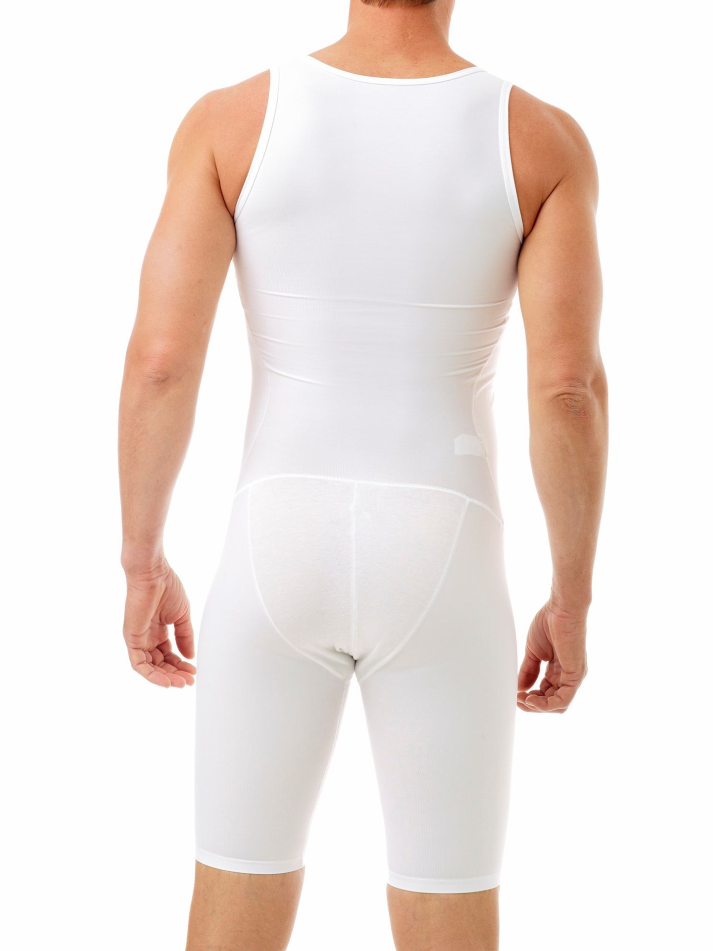 Picture of Mens Compression Bodysuit Shaper - Girdle for Gynecomastia Belly Fat and Thighs - No Rear Zipper