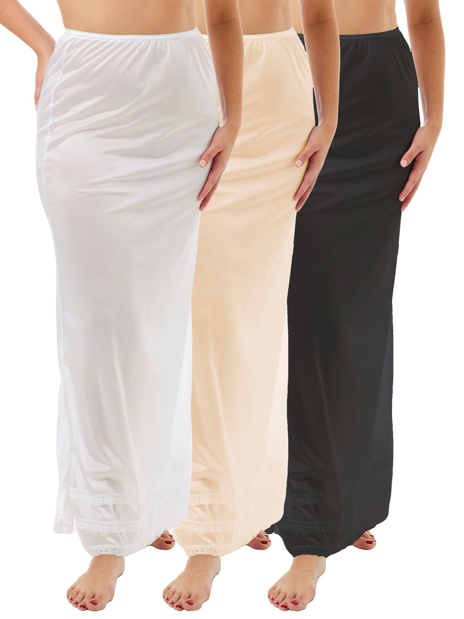 Picture of Nylon Maxi Length Half Slip 3-Pack