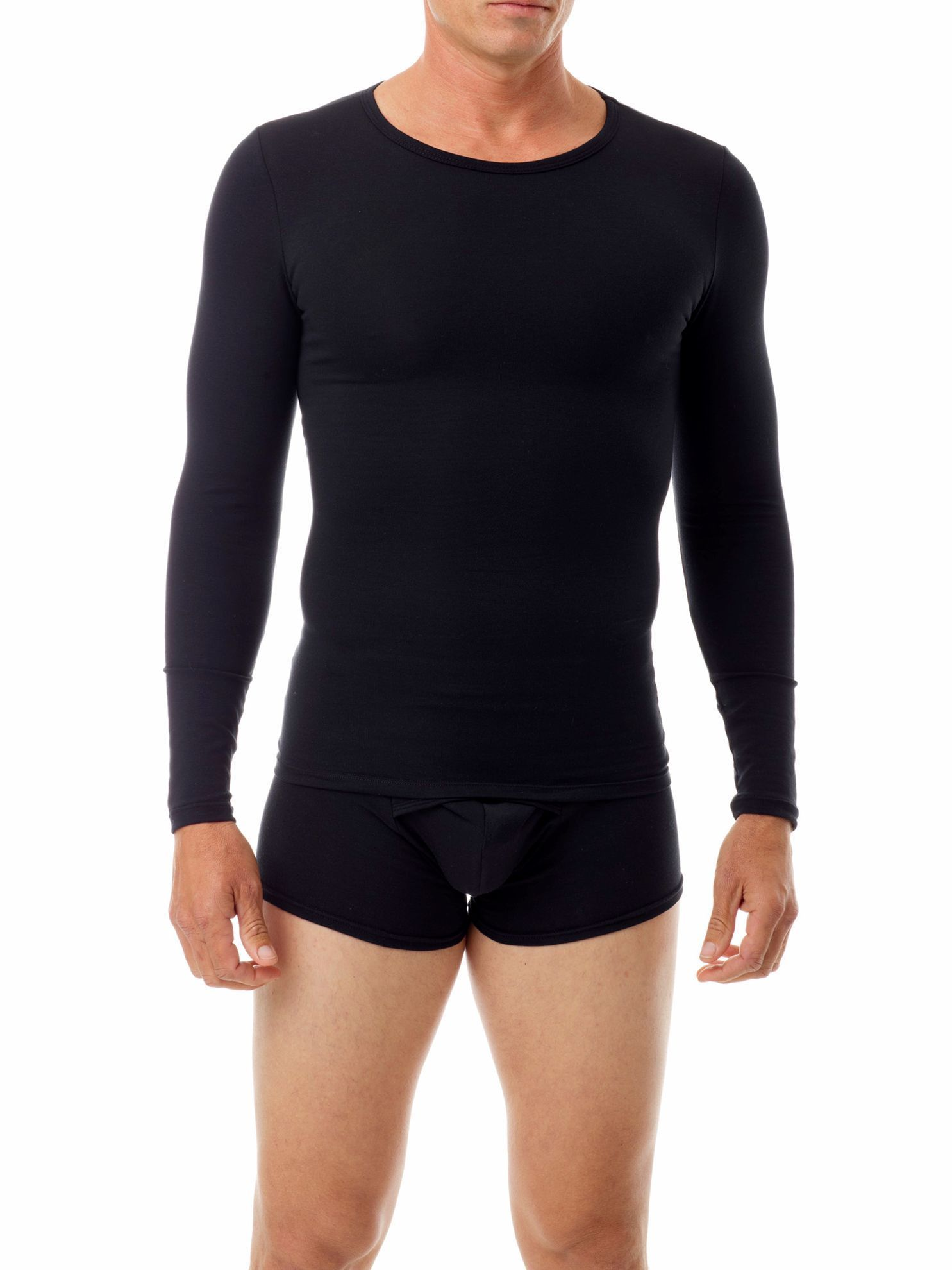 Picture of Cotton Spandex Crew Neck Long Sleeves