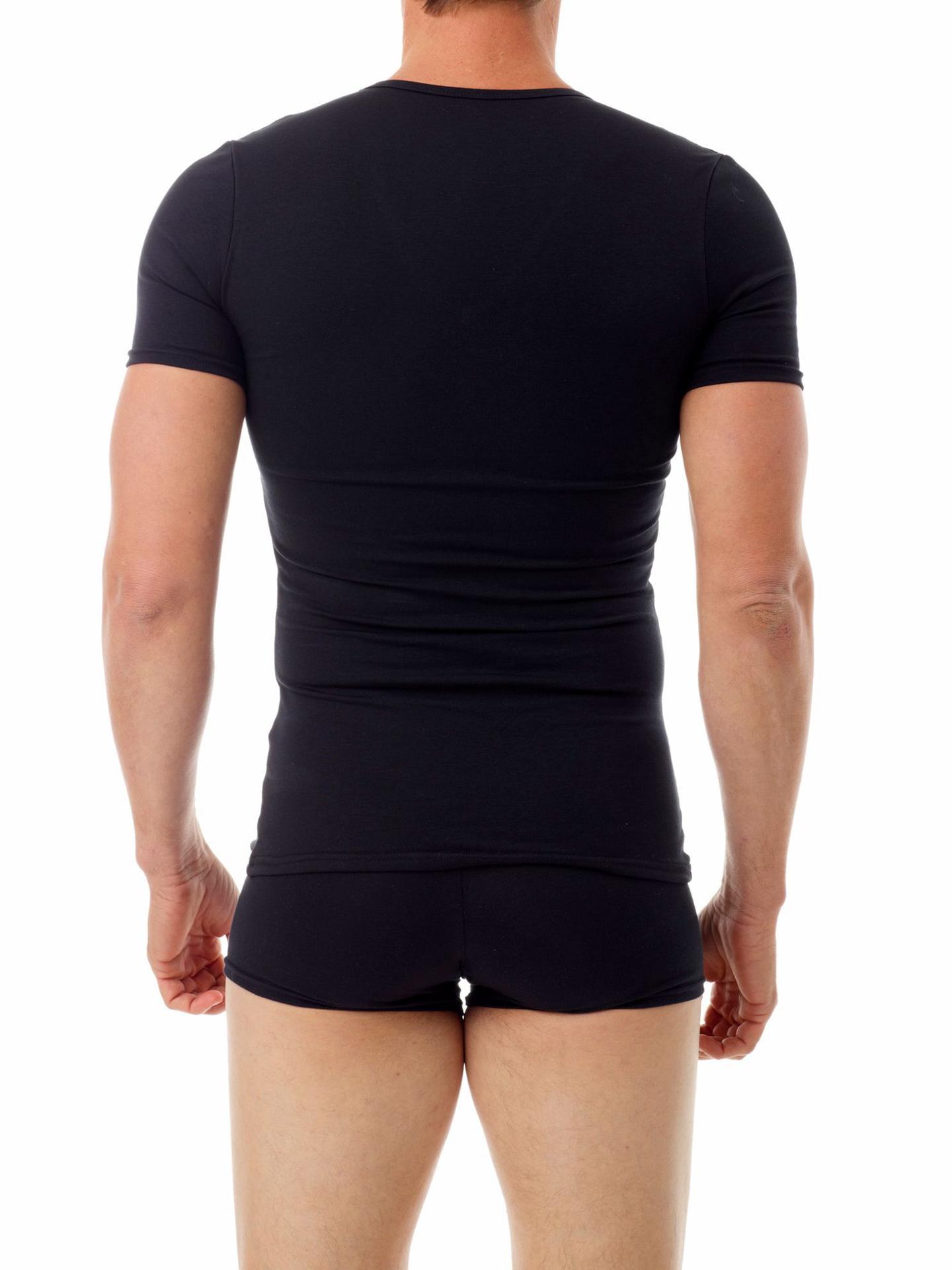 Picture of Mens Cotton Concealer Compression V-neck T-shirt