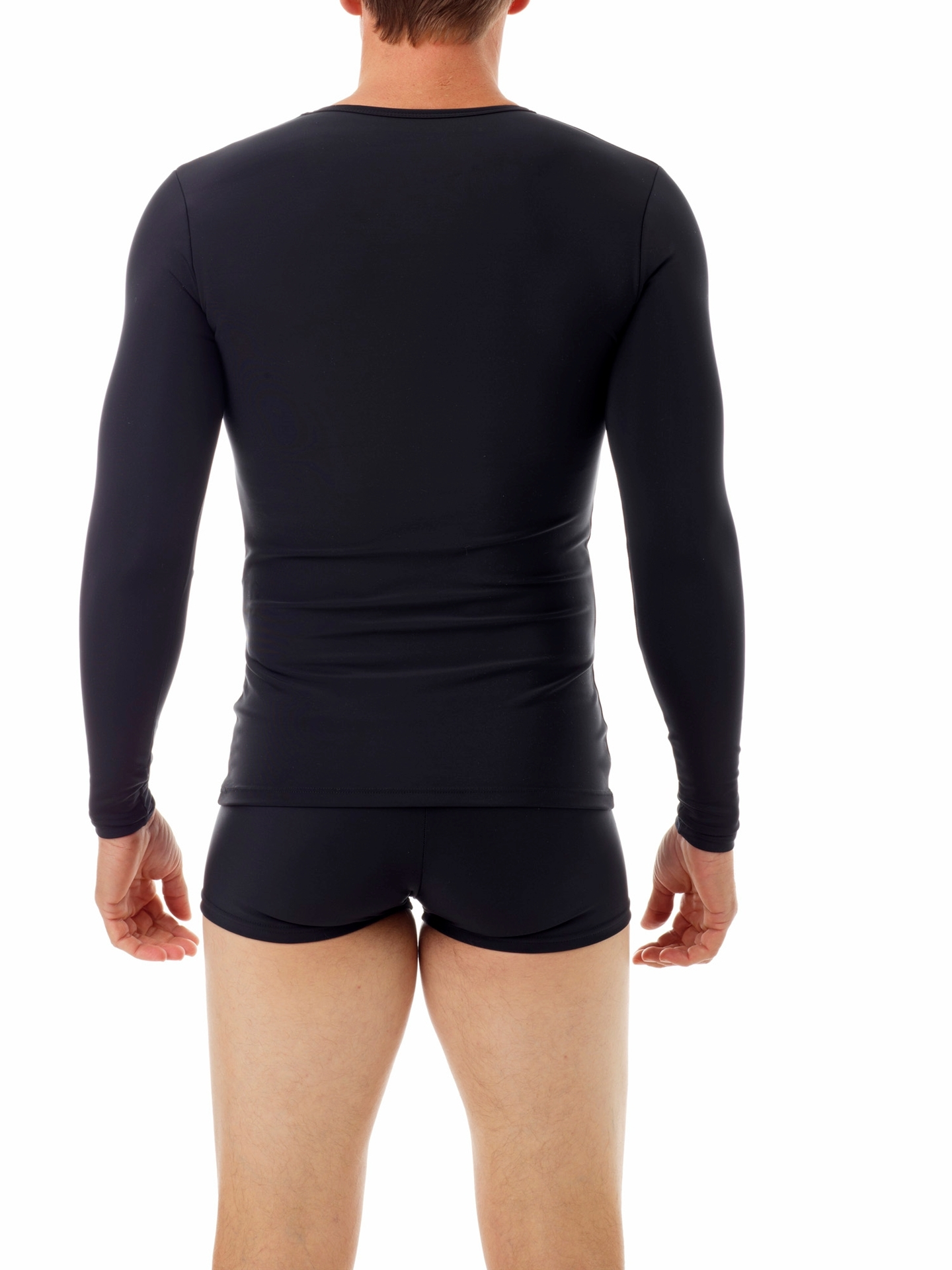 Picture of Microfiber Compression Crew Neck T-shirt with Long Sleeves