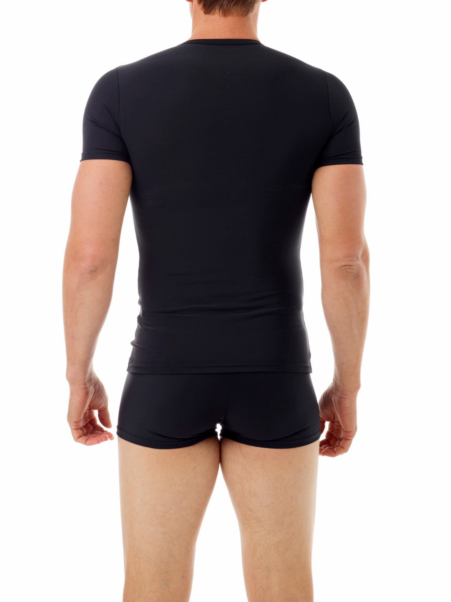 Picture of Microfiber Compression Crew Neck T-shirt with Short Sleeves