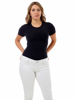 Picture of Womens Ultra Light Cotton Spandex Compression Crew Neck T-shirt