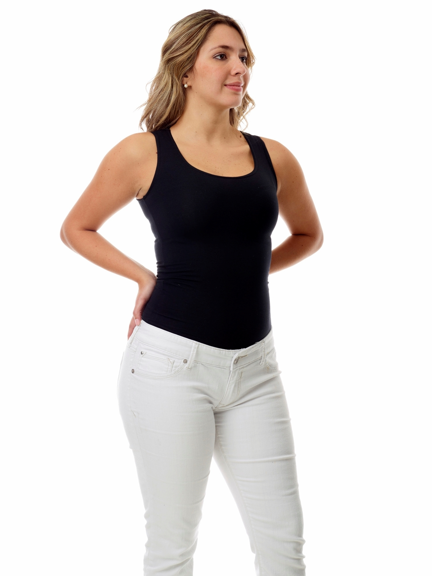 Picture of Womens Ultra Light Cotton Spandex Compression Tank
