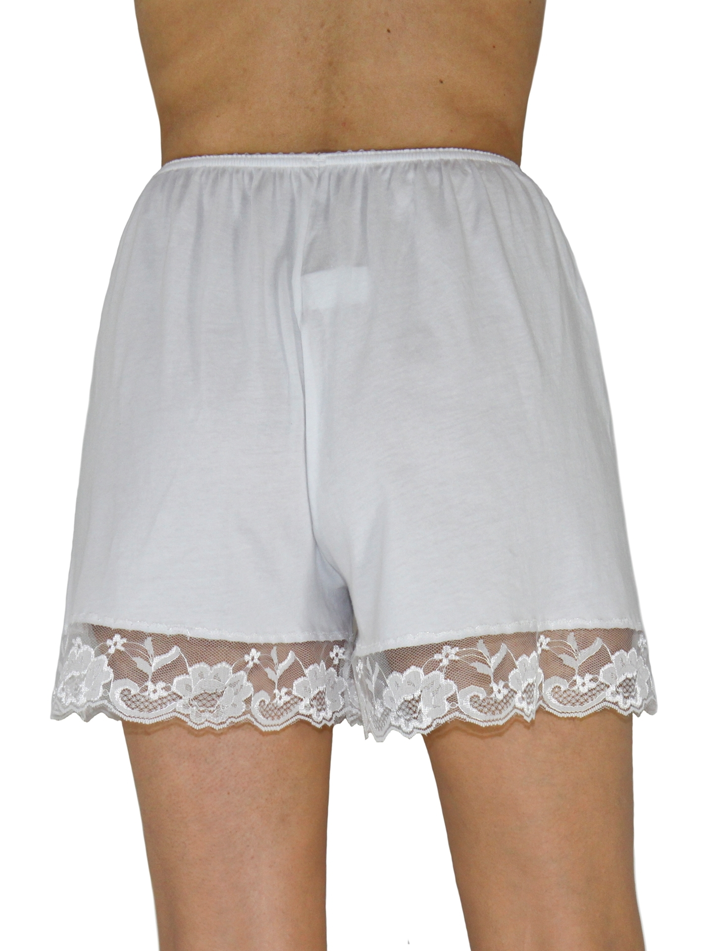 Picture of Pettipants Cotton Knit Culotte Slip Bloomers Split Skirt 4-inch Inseam