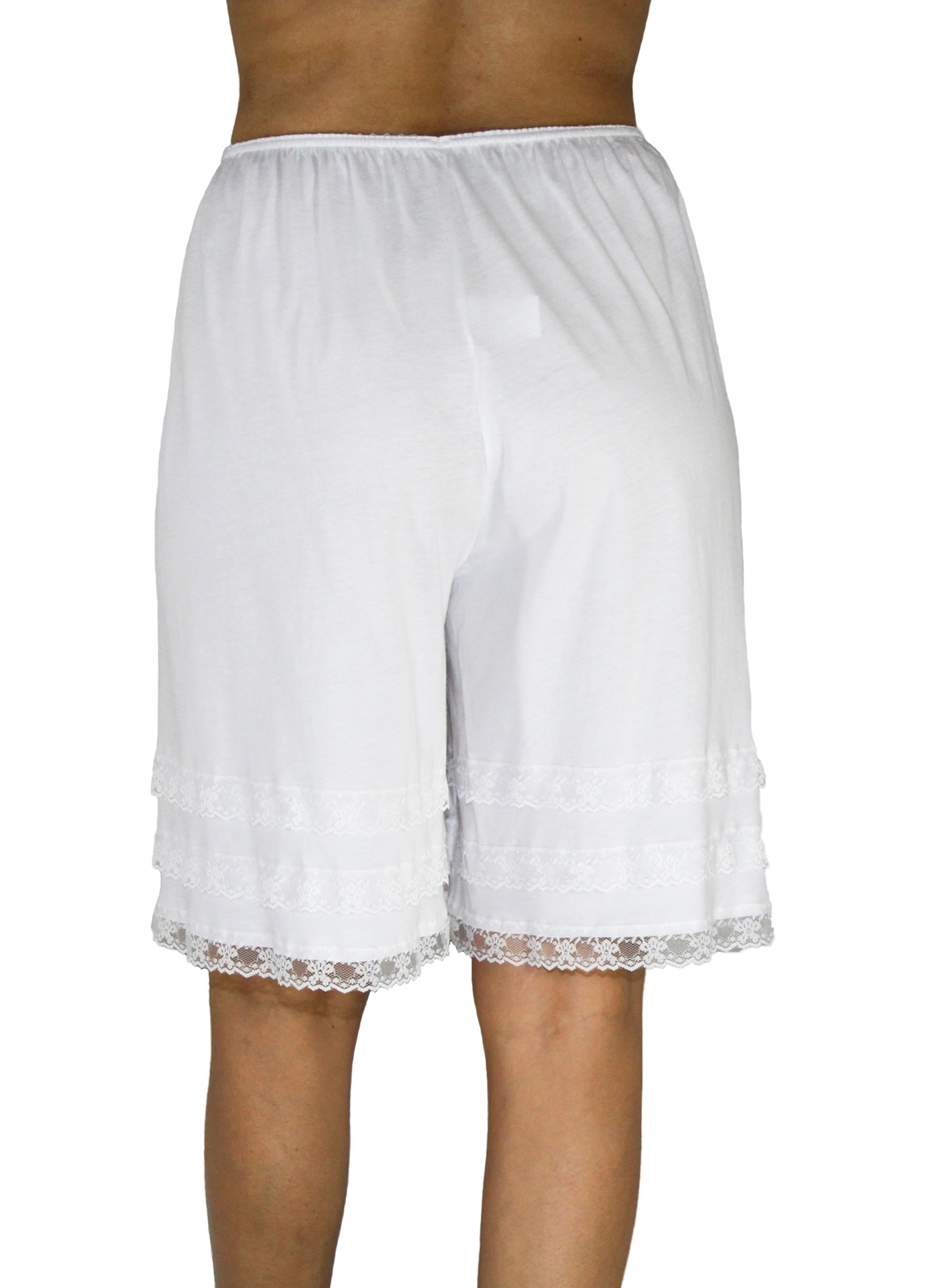Picture of Cotton Knit Snip-A-Length Pettipants Culotte Slip Bloomers Split Skirt