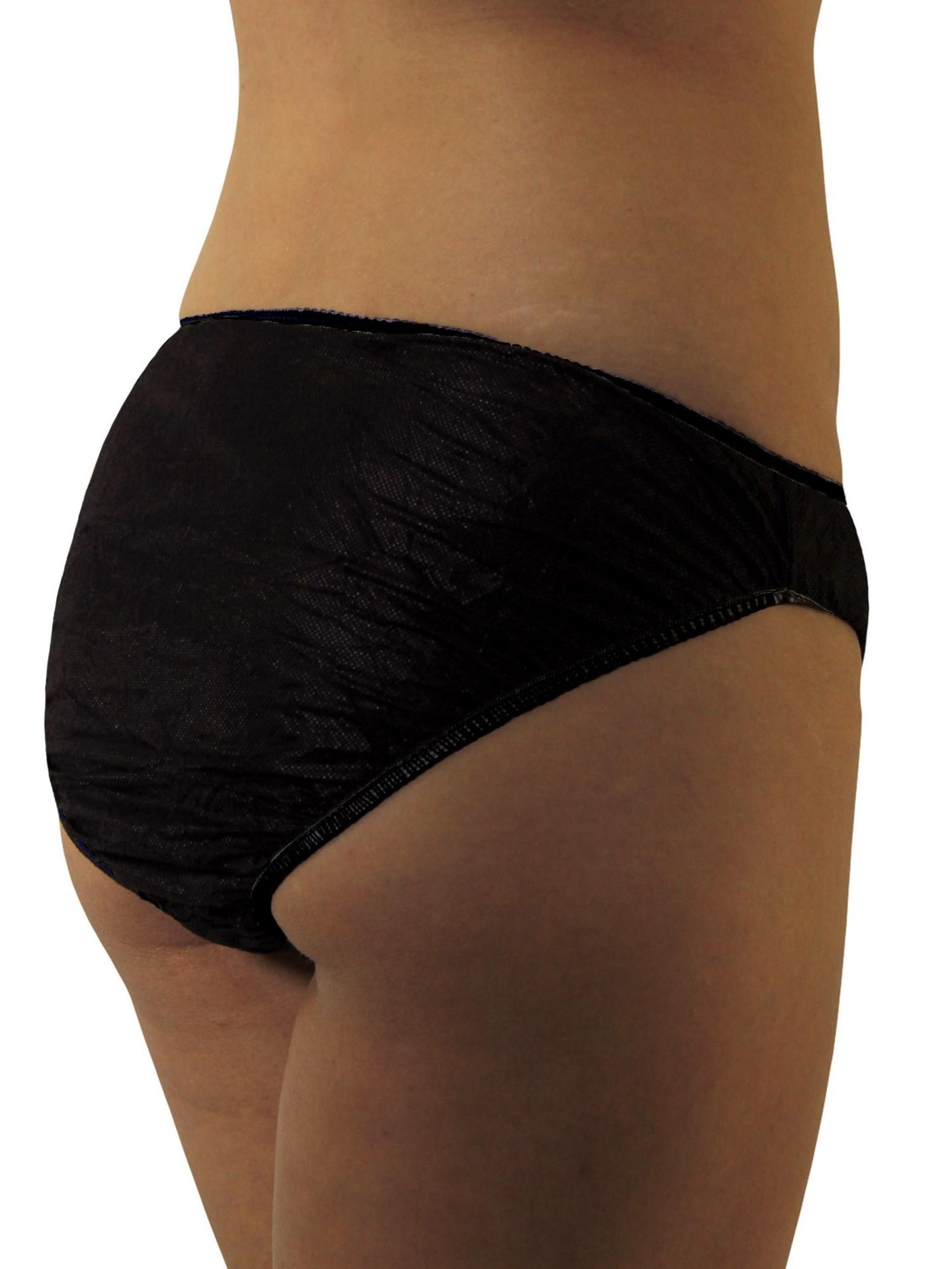 Underworks Black Health Disposable Underwear for women : Travel, Hospital, Spa