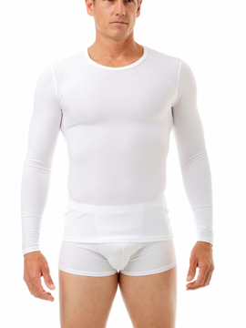 Picture of Microfiber Compression Crew Neck T-shirt with Long Sleeves - Slightly Irregular Garment