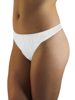 Underworks White Cotton Disposable Thongs