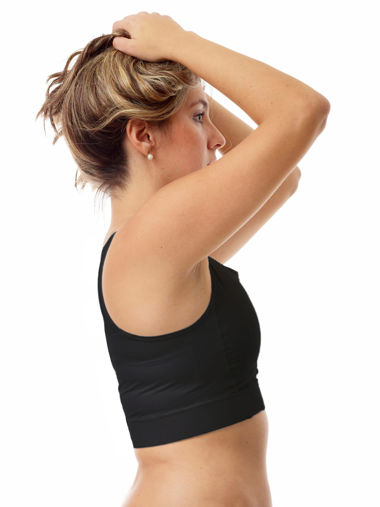 The support and control you need for your active lifestyle is available in the Underworks compression sports bra