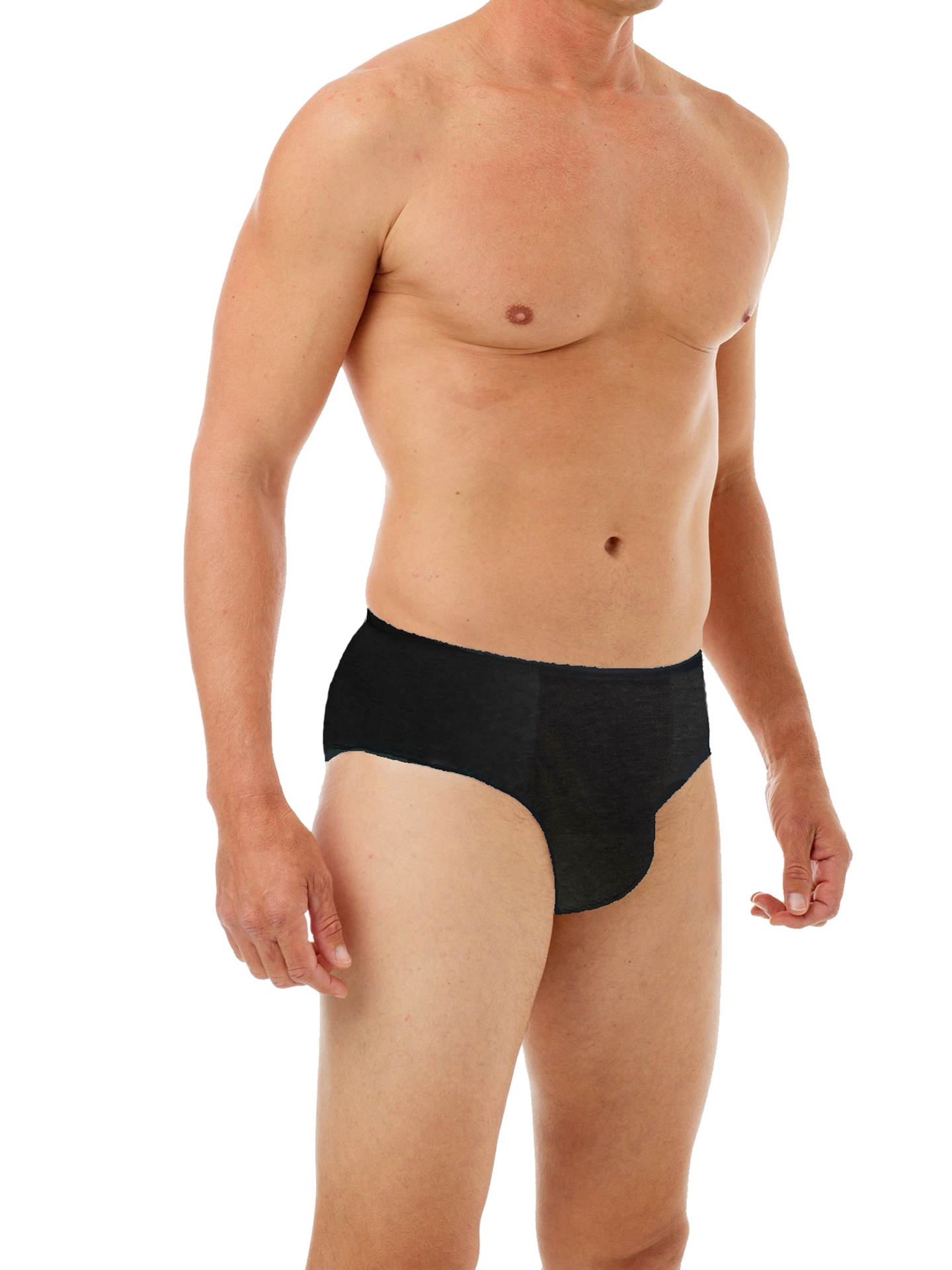 Picture of Mens Disposable 100% Cotton Underwear  For Travel - Hospital Stays - Emergencies - 10pk