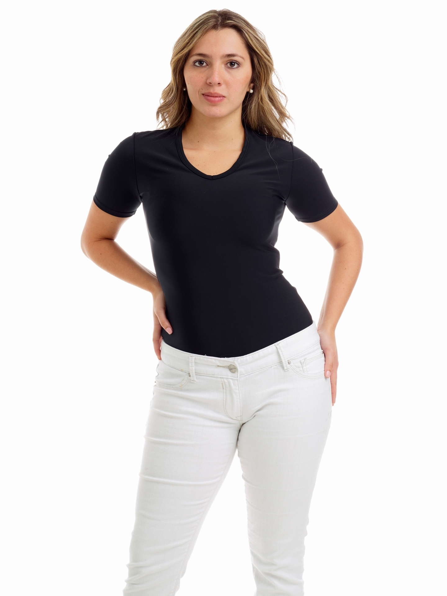 Picture of Womens Microfiber V-Neck T-shirt