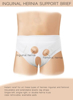 Underworks Single or double Hernia Truss with removable and extendable pads
