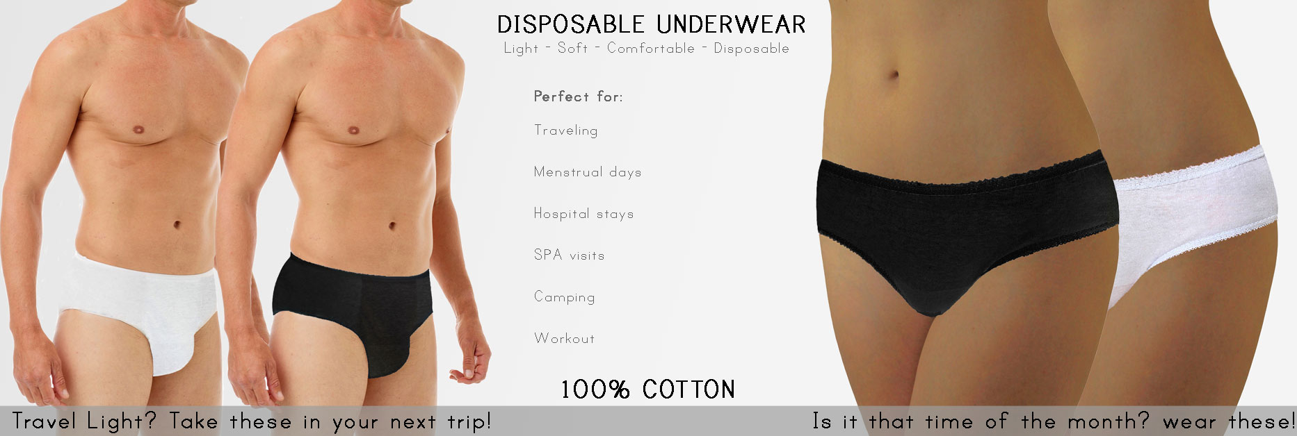 Underworks Disposable Underwear for men and women