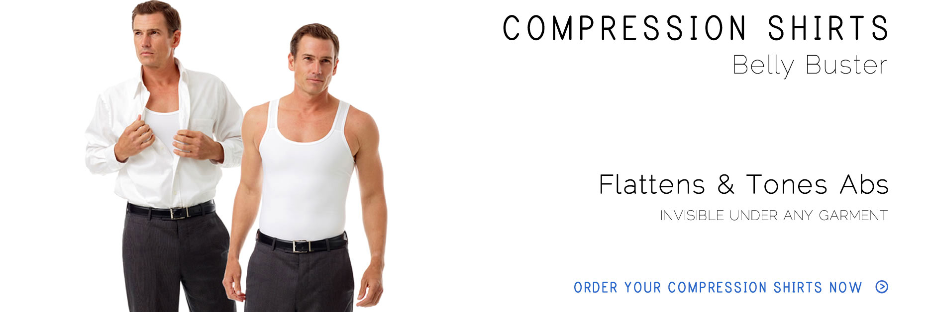 Underworks Compression Gynecomastia Shirts and Compression tank Tops